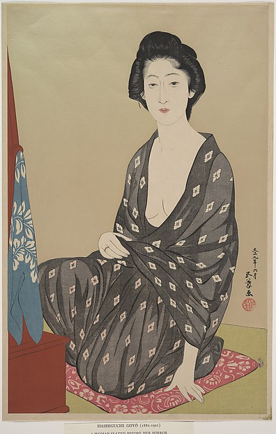 Nakatani Tsuru Seated Before the Dressing Stand