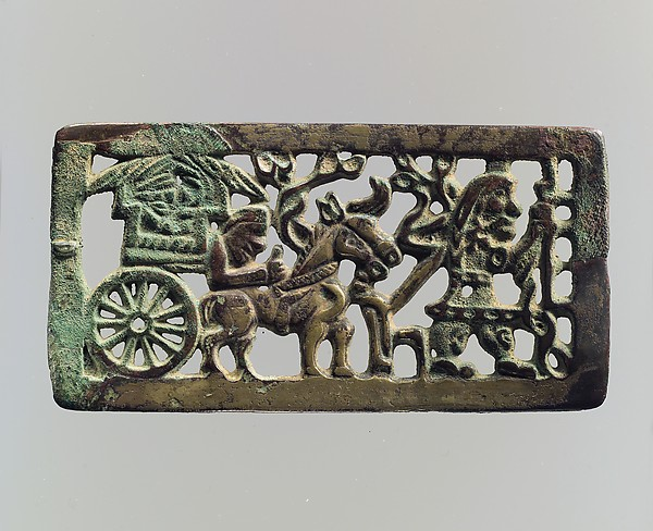 Plaque with Horse Carriage