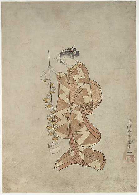 Modern Representation of the Poetess Kaga no Chiyo