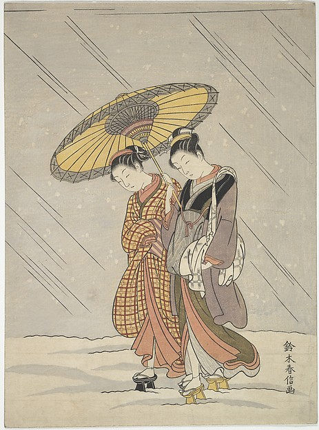 Two Women in a Storm
