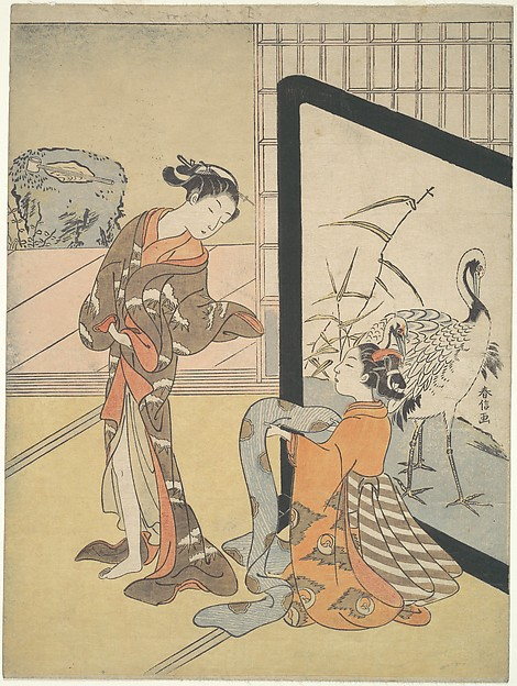 遊女と新造<br/>Courtesan and Shinzō