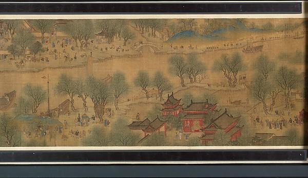 清  佚名  清明上河圖  卷<br/>Spring Festival on the River