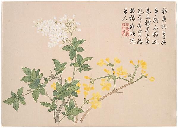 清  錢維城  景數四氣,冬景圖  冊<br/>Winter Landscapes and Flowers