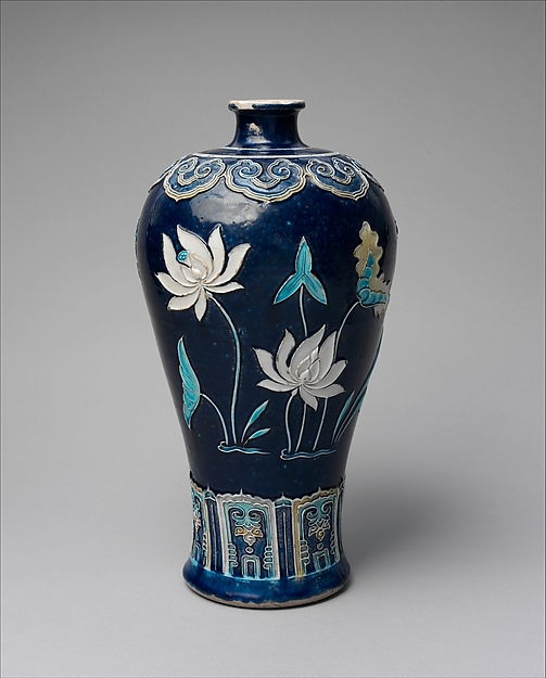 Bottle with Lotuses