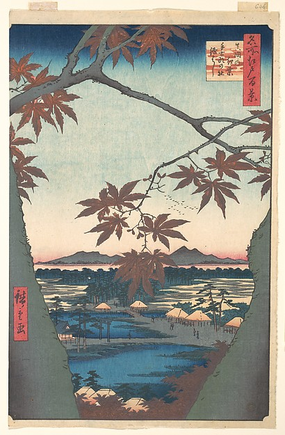 Maples at Mama, from the series One Hundred Famous Views of Edo