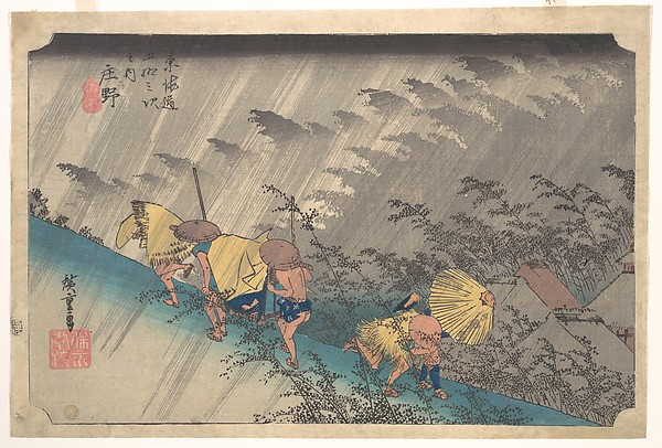 Sudden Shower at Shōno, from the series Fifty-three Stations of the Tōkaidō