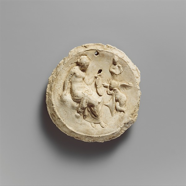 Emblema with Aphrodite and Eros