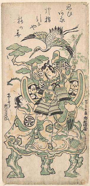 Fascinating Historical Picture of Torii Kiyomasu I with Ichimura Manzo as Yatsushi Goro and Segawa Kikujiro as Yatsushi Shosho in 1745