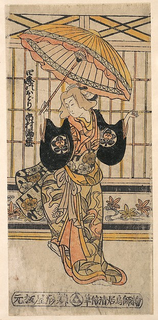 The Actor Ichimura Uzaemon VIII 1699–1762 as a Woman with Parasol