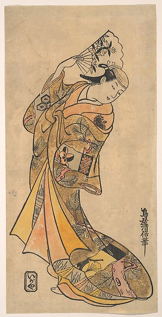 The Actor, Nakamura Shichisaburo II, 1703–1774 as a Woman with Fan