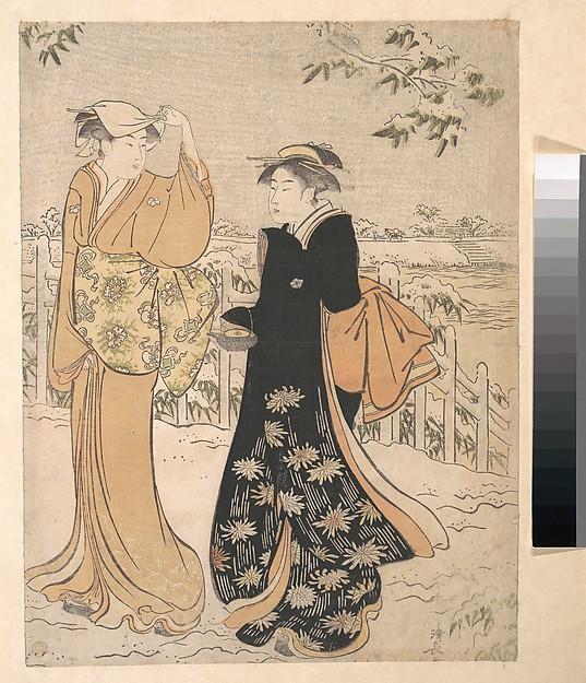 Two Women on Matsuchi Hill Edo