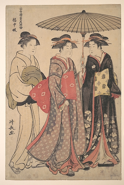 Fascinating Historical Picture of Torii Kiyonaga with KitchugiDancers of Tachibana Street in 1742