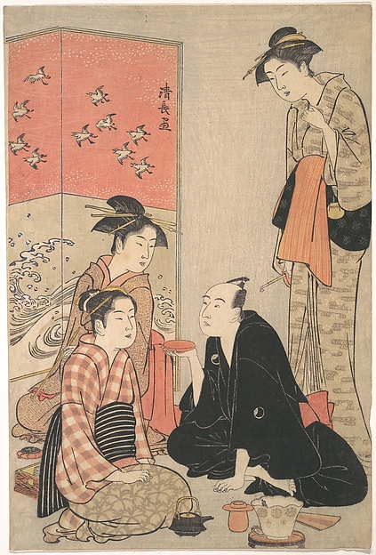This is What Torii Kiyonaga and The Kabuki Actor Sawamura S Looked Like  in 1783