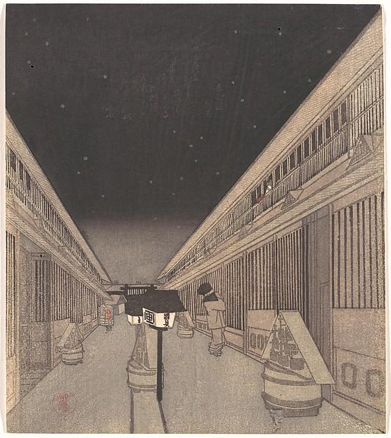 Main Street of the Yoshiwara on a Starlight Night
