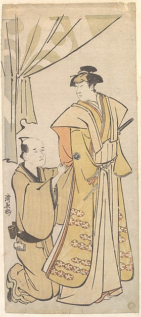 The Actor Nakamura Rikō I with an Attendant