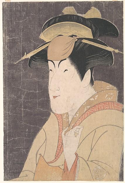 "Nakayama Tomisaburō as Miyagino in the Play ""Katakiuchi Noriyaibanashi"""