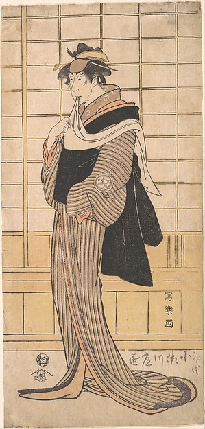 Osagawa Tsuneyo II as the hairdresser O-Roku