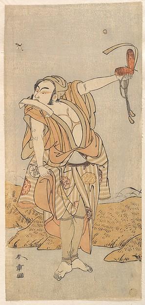 Fascinating Historical Picture of Katsukawa Shunsh with The Second Nakamura Juzo as a Yakko in 1773