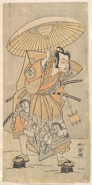 Fascinating Historical Picture of Katsukawa Shunsh with The Second Nakamura Juzo as a Samurai in 1773