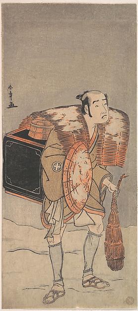 Otani Tomoemon (?) as a Peddler Trudging Through the Snow
