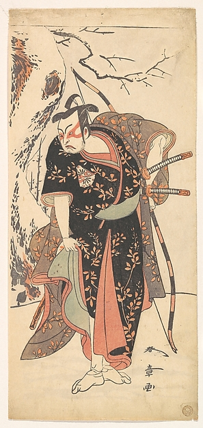 Fascinating Historical Picture of Katsukawa Shunsh with The Second Nakamura Juzo as a Samurai of High Rank in 1773