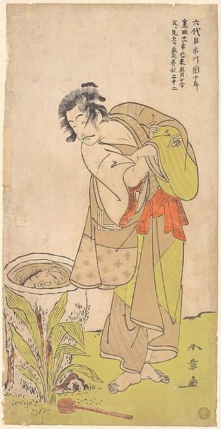 Fascinating Historical Picture of Katsukawa Shunsh with The Kabuki Actor Ichikawa Danjr V in 1773
