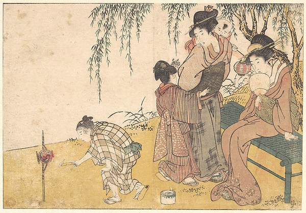 四季の花<br/>A Child Lighting Fireworks, from the illustrated book Flowers of the Four Seasons