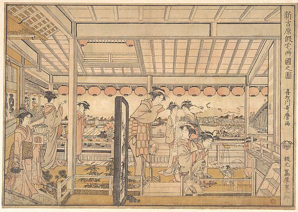 Shin Yoshiwara Karitaku Ryogoku no zu