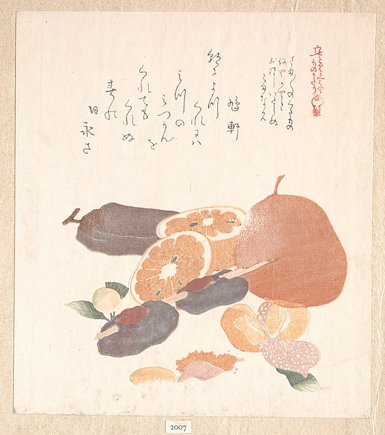 Oranges and Dried Persimmons