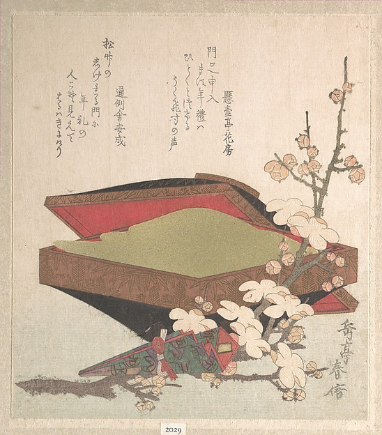 Plum Blossoms and Cake-Box