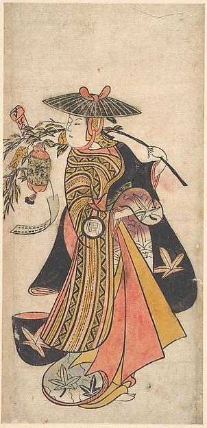 Actor Sanogawa Ichimatsu (1722–1763) as a Courtesan during the Tanabata Festival