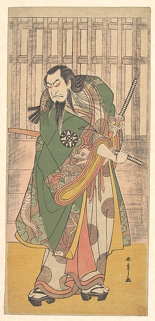 The First Nakamura Nakazō in the role of Hige no Ikyu