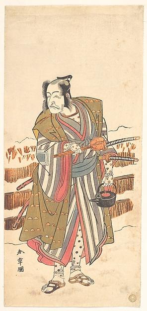 Fascinating Historical Picture of Katsukawa Shunsh with Ichikawa Ebizo (the Fourth Ichikawa Danjuro) as a Samurai in 1773
