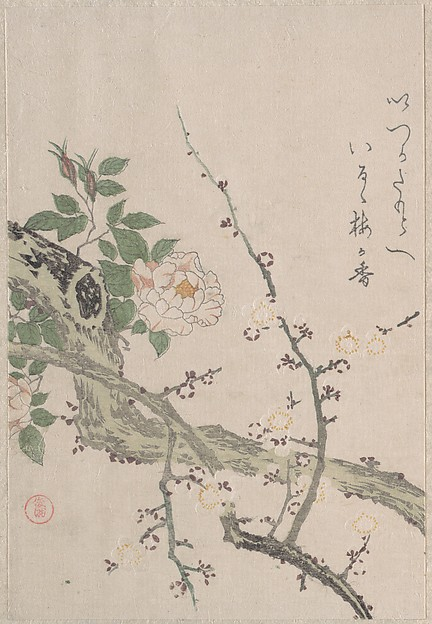 Roses and Plum Blossoms