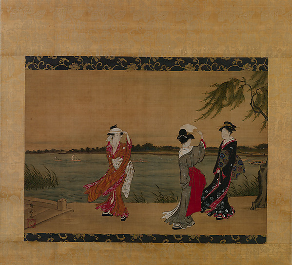 Three Girls on a Riverbank