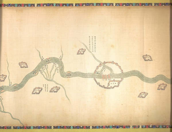 清  佚名  大運河地圖 (從北京至長江)  卷<br/>Map of the Grand Canal from Beijing to the Yangzi River
