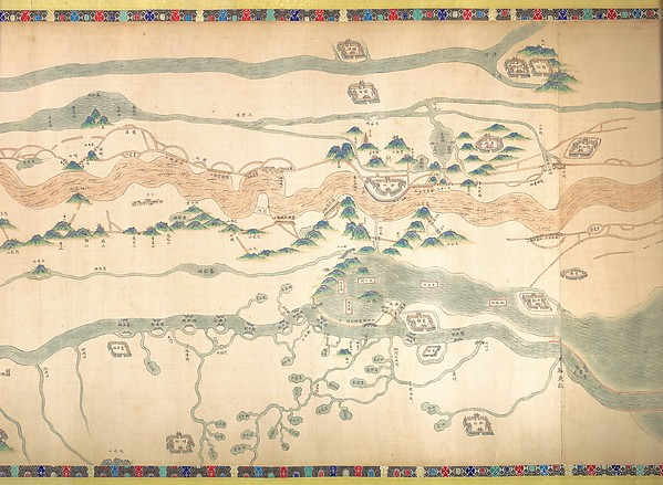 清  佚名  大運河地圖 (從北京至長江)  卷<br/>Map of the Grand Canal from Beijing to the Yangzi River