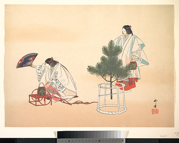 "Scene from the Noh play ""Matsukaze"""