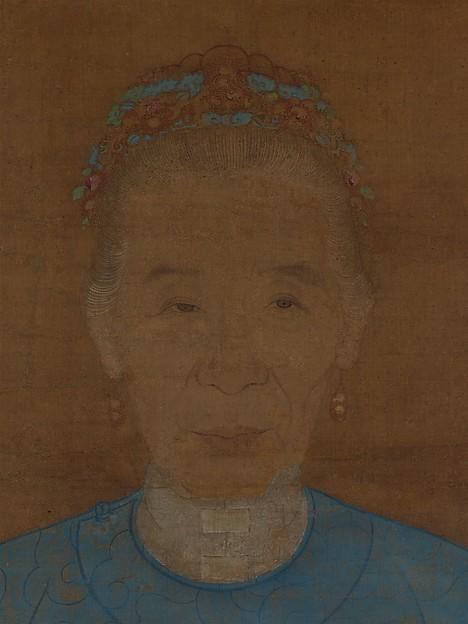 明  阮祖德  老婦像  軸<br/>Portrait of an Old Lady