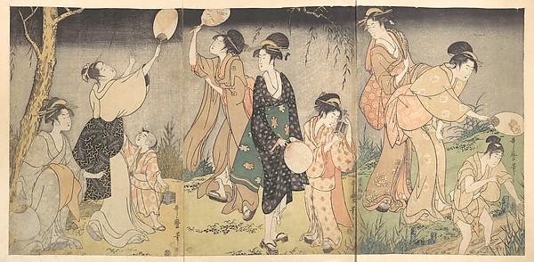 蛍狩<br/>Catching fireflies (Hotaru gari)