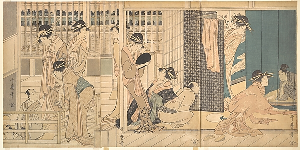仮宅の後朝<br/>Scene in the Yoshiwara
