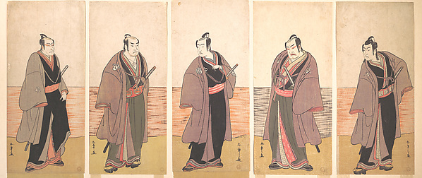"Ichikawa Danjuro V as a Chivalrous Commoner (Gonin Otoko) from the Play ""Hatsumonbi kuruwa Soga"""