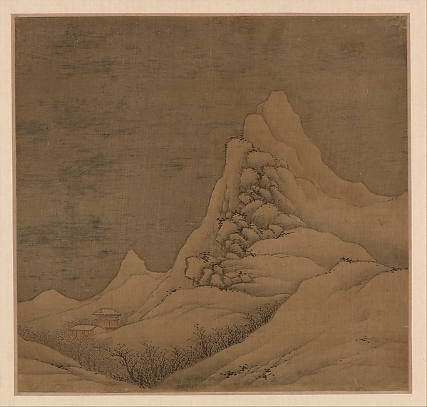 清 高岑 擬古山水圖 冊 絹本<br/>Landscapes in the styles of old masters