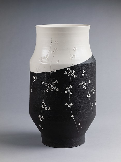 Vessel with Impressed Cherry Blossoms