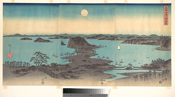雪月花 武陽金沢八勝夜景<br/>Full Moon at Kanazawa, Province of Musashi