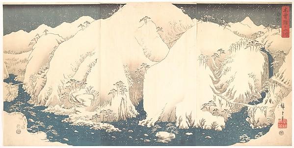 Kisō Mountains in Snow