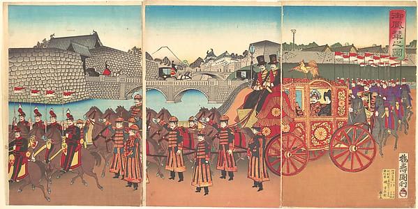 Go Horen no zu<br/>View of the Imperial Carriage
