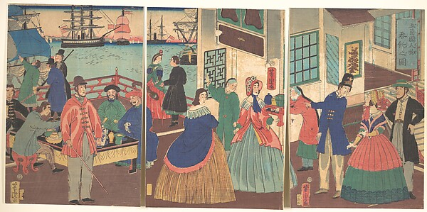 Goko Kokujinmotsu-Don Taku no zu<br/>View of Eating and Drinking by People of Five Countries