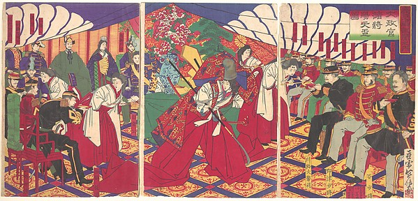 Taiseikan Shosho Shiten<br/>Commanders Receiving the Emperor's Drinking Cups