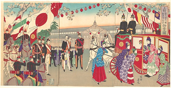 Visit of the Empress to the Third National Industrial Promotional Exhibit at Ueno